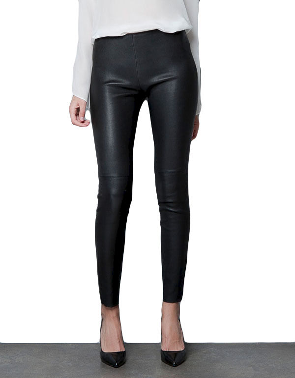 LEATHER LOOK TROUSERS - product image