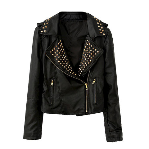 STUDDED,LEATHER,LOOK,JACKET,Shoulder Board Jacket, STUDDED SHOULDER JACKET, STUDDED SHOULD BOARD JACKET, STUDDED SHOULDER LEATHER JACKET