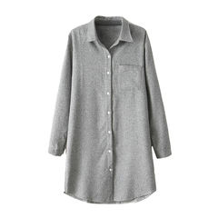 STRUCTURED,SHIRT,Longline Shirt, SHIRT DRESS, GREY SHIRT DRESS, GREY STRUCTURED SHIRT DRESS