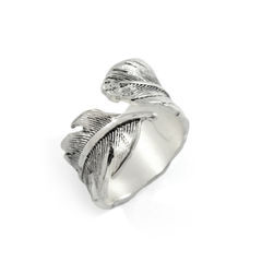 LEAF,RING,TWIST RING, TWISTED LEAF RING, TWISTED LEAVES RING, VINTAGE TWISTED LEAF RING