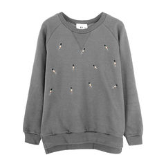 SOLDIERS,JUMPER,SOLDIERS PRINT JUMPER, MINI SOLDIERS JUMPER, STITCH SOLDIERS JUMPER, GREY SIMPLE JUMPER, SIMPLE DESIGN JUMPER
