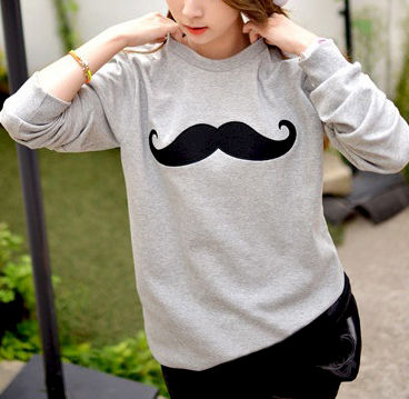 MOUSTACHE,JUMPER,MUSTACHE CLOTHING, BLACK MUSTACHE JUMPER, BLACK MUSTACHE  CLOTHING