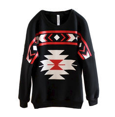 AZTEC,PATTERN,JUMPER,AZTEC PRINT RAGLAN SLEEVE JUMPER, SIMPLE PATTERN RAGLAN SLEEVE JUMPER, AZTEC PATTERN RAGLAN SLEEVE JUMPER