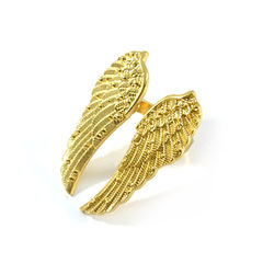 WINGS,RING,WING RING, WING SPAN RING, GOLD WING SPAN RING, GOLD WING RING