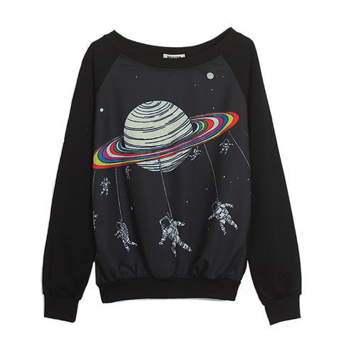SPACEMAN,JUMPER,COLOURFUL PRINT JUMPER, COLOR PLANET JUMPER, SPACEMAN AND PLANET JUMPER, COLOURFUL PLANET PRINT JUMPER