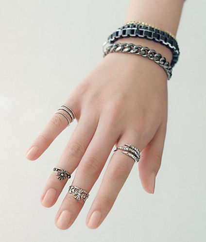 CLAW WITH CROSS RING SET - product image