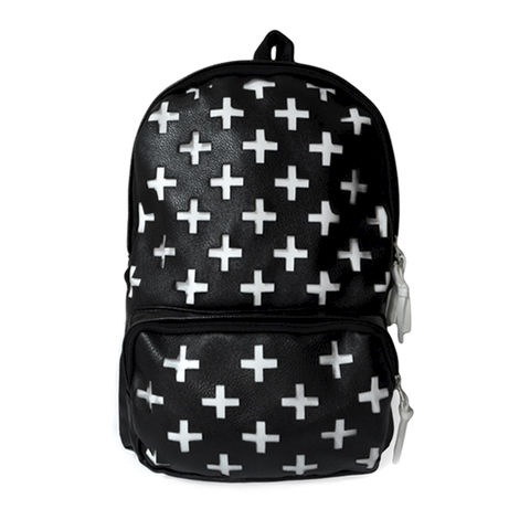 MULTI,CROSS,BAG,CROSS BACKPACK, MULTI WHITE CROSS BAG, MULTI CROSS BACKPACK, BLACK AND WHITE BACKPACK