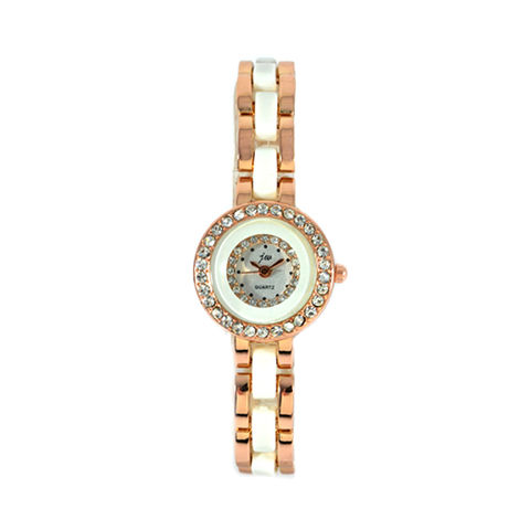 GOLD,WITH,WHITE,TONE,WATCH,GOLD WATCH, CRYSTAL WATCH, GOLD AND WHITE WATCH, CRYSTAL DECOR WATCH