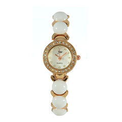 VINTAGE,STYLE,ROUND,WATCH,CRYSTAL EDGE WATCH, ROUND CRYSTAL WATCH, GOLD ROUND WATCH, CRYSTAL AND GOLD ROUND WATCH