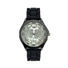 PLASTIC,STRAP,WATCH,PLASTIC WATCH, MINIMAL PLASTIC STRAP WATCH,BLACK WATCH