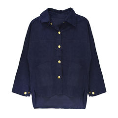 CORDUROY,SHIRT,(sold-out),NAVY BLUE CORDUROY SHIRT, BLUE SHIRT, RAGLAN SLEEVE CORDUROY SHIRT, BLUE RAGLAN SLEEVE CORDUROY SHIRT
