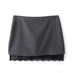 FELT,WITH,LACE,SKIRT,FELT SKIRT, LACE SKIRT, BLACK FELT AND LACE SKIRT, GREY FELT AND LACE SKIRT