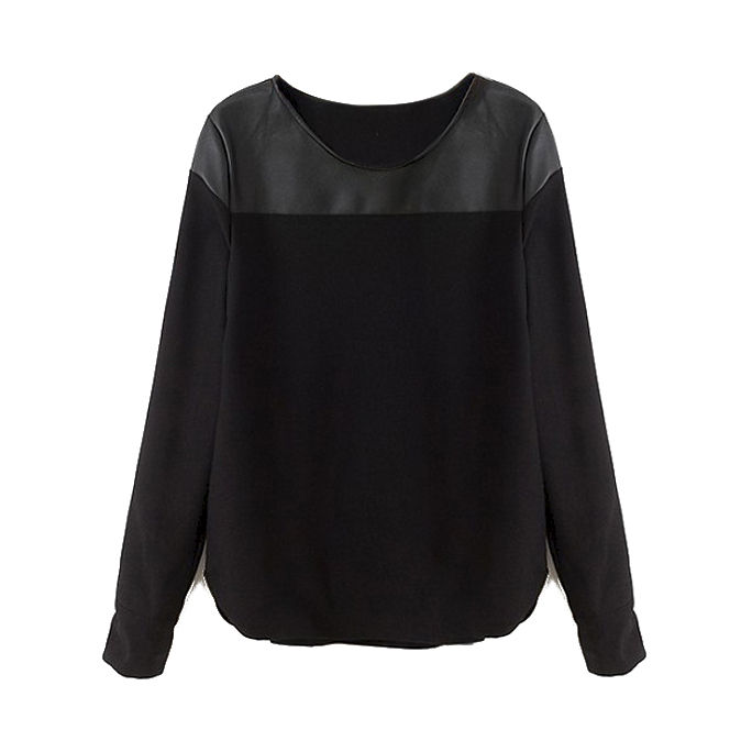 LEATHER LOOK SHOULDER TOP - product image