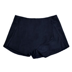 FELT,PANEL,LAYER,SHORTS,LAYER SHORTS, PANELS SHORTS, BLUE SHORTS, BLUE LAYER SHORTS, Asymmetrical Shorts