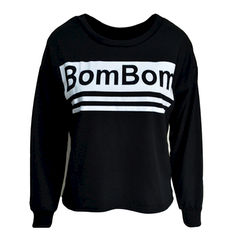 BOMBOM,JUMPER,BOM BOM JUMPER, BLACK BOM BOM JUMPER, BLACK AND WHITE JUMPER, BOM BOM BLACK AND WHITE JUMPER