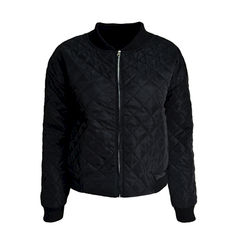 BLACK,QUILTED,JACKET,QUILTED JACKET, MINIMAL QUILTED JACKET, BLACK MINIMAL QUILTED JACKET