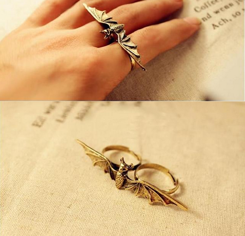 DOUBLE FINGER BAT RING - product image