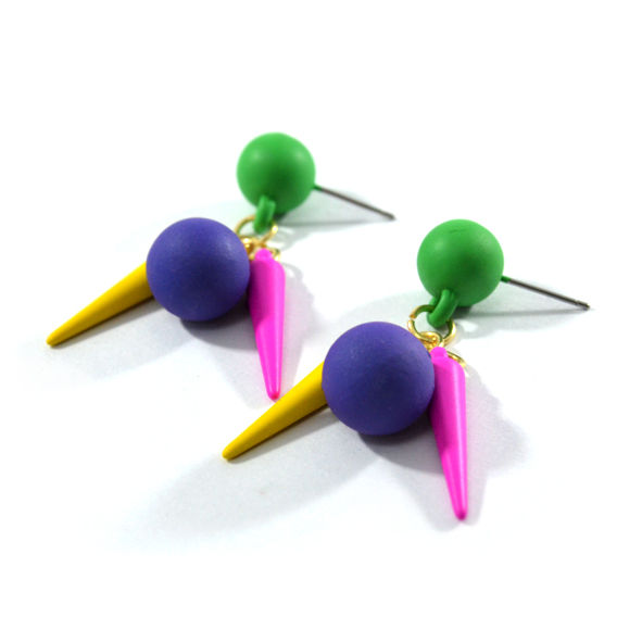 BALL AND SPIKES EARRING - product image