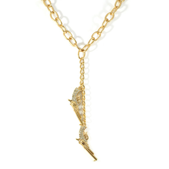 GUN WITH CRYSTALS NECKLACE - product image