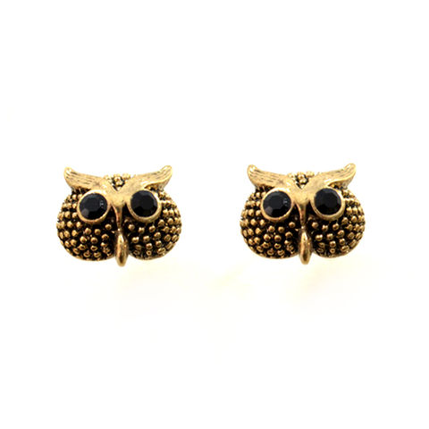 OWL,EARRINGS,MINI OWL EARRINGS, CRYSTAL EYES MINI OWL EARRINGS, CRYSTAL OWL EARRINGS, BIRD EARRINGS