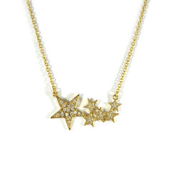 STARS,NECKLACE,CRYSTAL STAR NECKLACE, CRYSTALS STARS PENDANT NECKLACE, STARS PENDANT NECKLACE