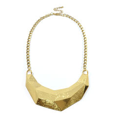 CRESCENT,BIB,NECKLACE,TUSK SHAPE BIB NECKLACE, G