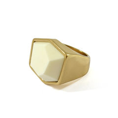 IRREGULAR,SURFACE,RING,STONE RING, WHITE STONE RING, I
