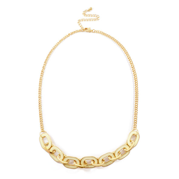CONTRAST CHUNKY CHAIN NECKLACE - product image