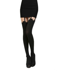 MOCK,SUSPENDER,TIGHTS,MOCK FAUX TATTOO TIGHTS,MOCK SUSPENDER  LEGGINGS, henry holland super suspender tights