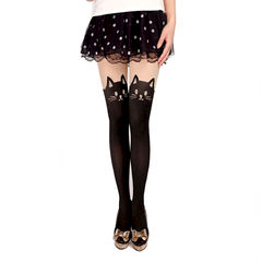 CAT,WITH,TAIL,SUSPENDER,TIGHTS,CAT TIGHTS, FAKE TATTOO CAT TIGHTS, CAT TATTOO TIGHTS, CAT AND TAIL SUSPENDER TIGHTS