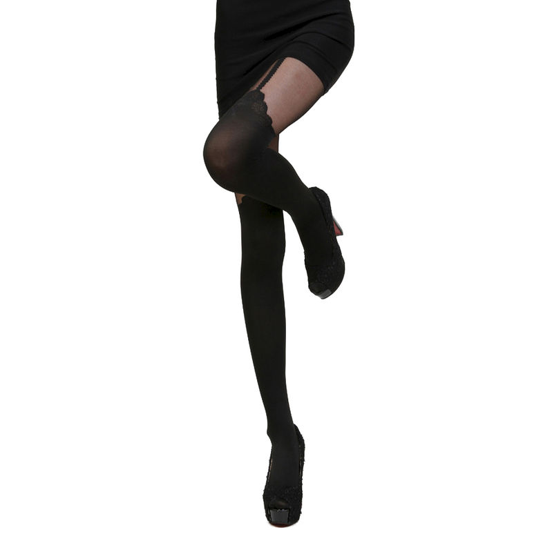 ROSE OVER THE KNEE TIGHTS - product image