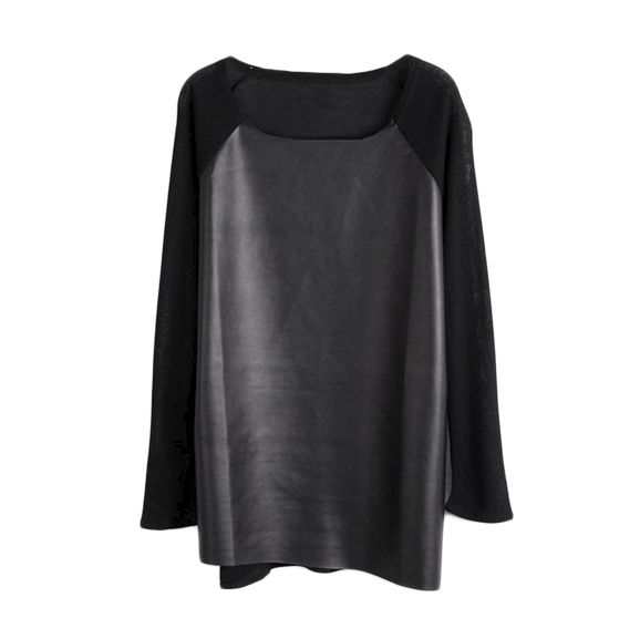 FAUX LEATHER FRONT TOP - product image