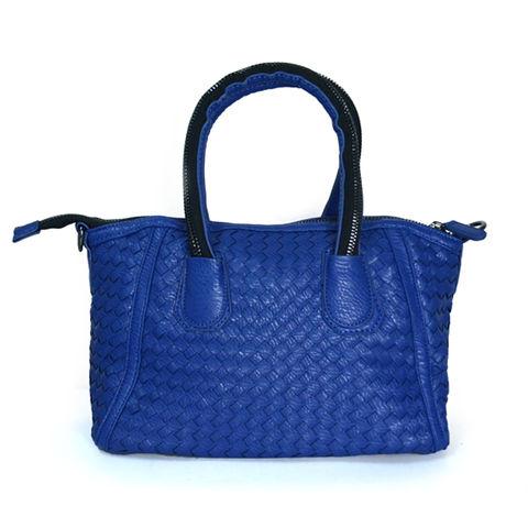 WEAVE,WING,BAG,BLUE WEAVE BAG , LEATHER WEAVE BAG, BLUE LEATHER WEAVE BAG, LEATHER LOOK WEAVE BAG
