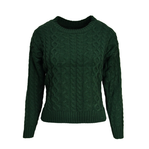 CABLE,KNIT,JUMPER,KNITTED CROP JUMPER, GREEN JUMPER, DARK GREEN CROPPED JUMPER, CABLE KNIT CROPPED JUMPER