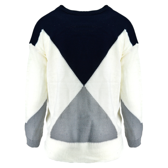 BLOCK COLOUR KNITTED JUMPER - product image