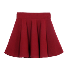 PLEATED,SKIRT,ELASTIC WAIST PLEATED SKIRT, MINIMAL PLEATED SKIRT, ELASTIC WAIST SKIRT, BLACK ELASTIC WAIST SKIRT, BLUE ELASTIC WAIST SKIRT, RED ELASTIC WAIST SKIRT