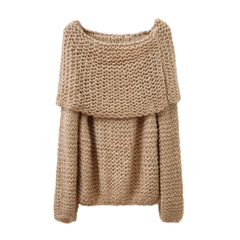 OFF,SHOULDER,KNIT,JUMPER,(sold-out),OFF SHOULDER JUMPER, OFF SHOULDER KNITTED JUMPER, RAGLAN SLEEVE OFF SHOULDER JUMPER, WOOL OFF SHOULDER JUMPER