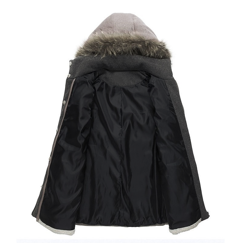 CONTRAST FAUX FUR HOODED PARKA - product image
