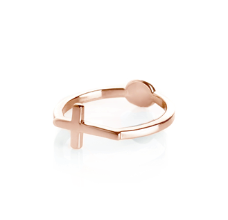 DOT,AND,CROSS,RING,CROSS RING, GOLD CROSS RING, MINI CROSS RING, SINGLE CROSS RING