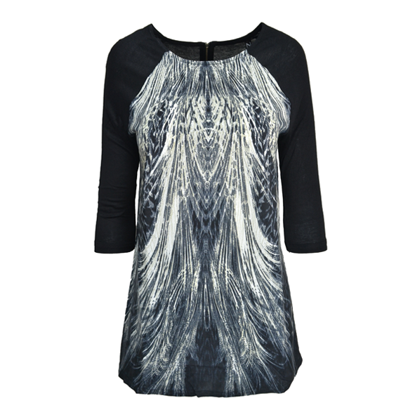 FEATHER PRINT TOP - product image