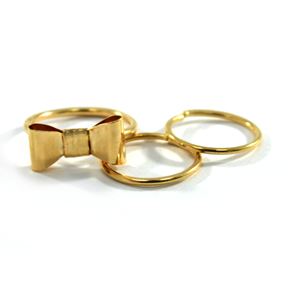 MINI CHARMS ABOVE KNUCKLE RING SET - product image