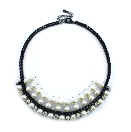 PEARL WITH CRYSTAL NECKLACE - product image
