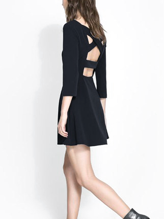 CROSSOVER BACK DRESS - product image