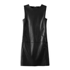FAUX,LEATHER,DRESS,LEATHER DRESS, SLEEVELESS LEATHER DRESS, BLACK DRESS, BLACK LEATHER DRESS, BLACK SLEEVELESS LEATHER DRESS