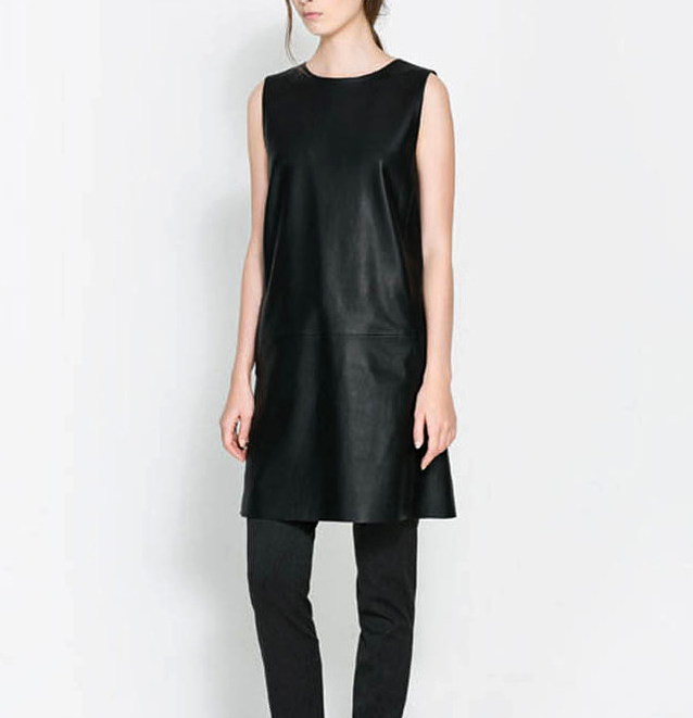 FAUX LEATHER DRESS - product image