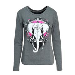 ELEPHANT,PRINT,TEE,ELEPHANT TEE, VINTAGE PRINT ELEPHANT TEE, VINTAGE ELEPHANT TEE, GREY ELEPHANT TEE, BLACK AND WHITE ELEPHANT TEE