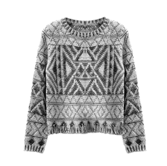 GREY,TONE,PATTERNED,KNIT,JUMPER,AZTEC PATTERN JUMPER, AZTEC PATTER KNITTED JUMPER, BLACK AND WHITE AZTEC PATTERN JUMPER, BLACK AND WHITE AZTEC KNITTED JUMPER
