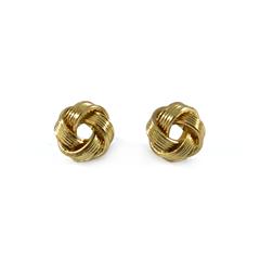 KNOT,EARRINGS,Knotting earrings, gold knot earrings, gold Knotting earrings