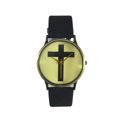 CROSS,WATCH,CROSS PRINT WATCH, VINTAGE CROSS WATCH, VINTAGE STYLE CROSS WATCH
