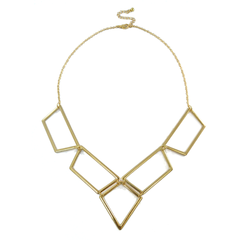 POLYGONAL,GEO,NECKLACE,GOLD BIB NECKLACE, GEO BIB NECKLACE, POLYGONAL BIB NECKLACE, GOLD POLYGONAL BIB NECKLACE